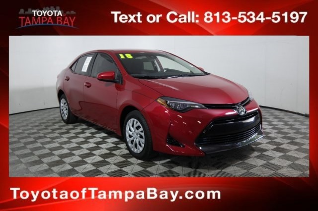 Toyota Certified Pre Owned >> Certified Pre Owned 2018 Toyota Corolla Le 4d Sedan In Tampa Bay